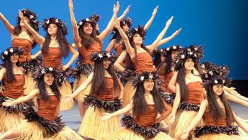 福島県立湯本高校の自由曲演舞(2019年8月 第9回フラガールズ甲子園)
